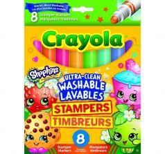 Фломастеры-штампики Crayola Шопкинс 8 шт.