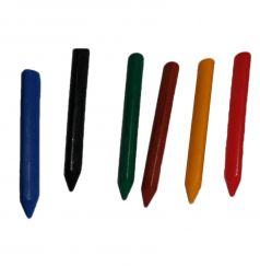 Набор восковых карандашей Baramba треугольные 15 шт./банка+точилка внутри