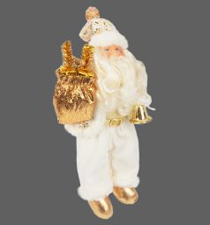 Кукла Новогодняя сказка Дед Мороз золото 43 см