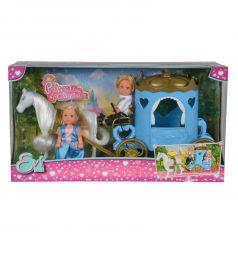 Игровой набор Simba Кукла Еви и Тимми в карете