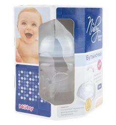 Бутылочка Nuby с диспенсером полипропилен с 0 мес, 150 мл, цвет: голубой