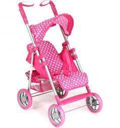 Коляска для кукол Melogo/melobo Горошек, розовый