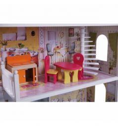 Игровой набор Edufun Дом для кукол с комплектом мебелью 123 см