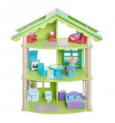 Деревянный кукольный домик Paremo Фиолент трехэтажный