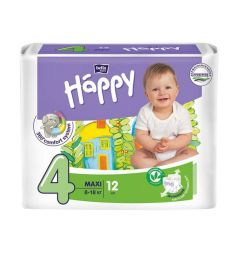 Подгузники Bella Baby Happy Maxi (8-18 кг) 12 шт.