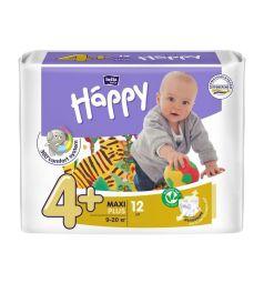 Подгузники Bella Baby Happy Maxi Plus (9-20 кг) 12 шт.