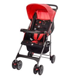 Прогулочная коляска BabyHit C5100, цвет: красный/черный