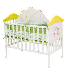 Кровать BabyHit Sleepy Compact, цвет: белый/зеленый/тигренок