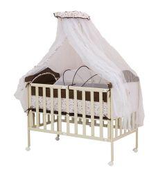 Кровать BabyHit Sleepy Compact, цвет: коричневый/бежевый/медвежонок