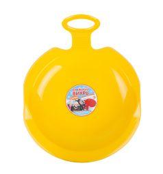 Санки Пластик, цвет: желтый