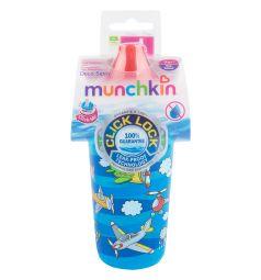 Поильник-чашка Munchkin Click Lock Deco Sippy с носиком, от 9 мес, цвет: синий