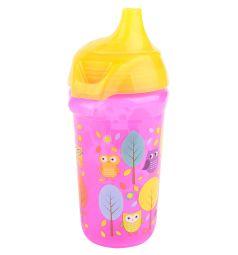 Поильник-чашка Munchkin Click Lock Deco Sippy с носиком, от 9 мес, цвет: розовый
