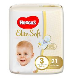 Подгузники Huggies Elite Soft (5-9 кг) 21 шт.