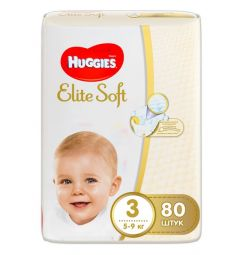 Подгузники Huggies Elite Soft (5-9 кг) 80 шт.