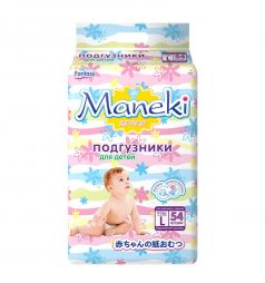 Подгузники Maneki Fantasy (9-14 кг) 54 шт.