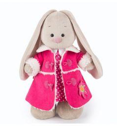 Мягкая игрушка Budi Basa Зайка Ми в платье и розовой дубленке 32 см