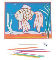 Картинка из песка Дрофа Рыбка