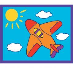 Картинка из песка Дрофа Самолетик