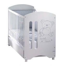 Кровать Micuna Sweet Bear, цвет: белый