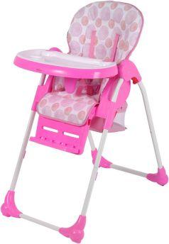Стульчик для кормления Selby BH-435, цвет: розовый