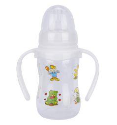 Бутылочка для кормления Baby Land с ручками, полипропилен, 0-6 мес, 150 мл, 1 шт