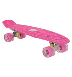 Скейтборд Leader Kids JC-001, цвет: розовый