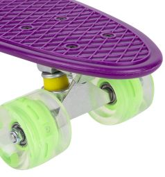 Скейтборд Leader Kids JC-001, цвет: фиолетовый