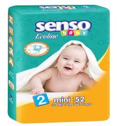 Подгузники Senso Baby Ecoline (3-6 кг) 52 шт.