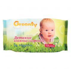 Салфетки влажные Greenty Детские, 72 шт
