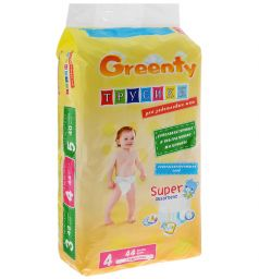 Трусики-подгузники Greenty (9-14 кг) 44 шт.