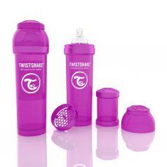 Бутылочка для кормления Twistshake Антиколиковая полипропилен с 4 мес, 330 мл, цвет: фиолетовый