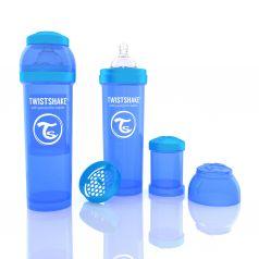 Бутылочка для кормления Twistshake Антиколиковая полипропилен с 4 мес, 330 мл, цвет: синий