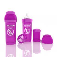 Бутылочка для кормления Twistshake Антиколиковая полипропилен с 2 мес, 260 мл, цвет: фиолетовый