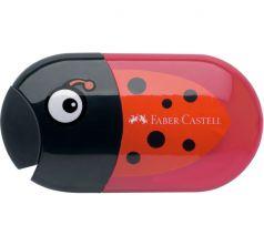 Точилка Faber-Castell Божья коровка с отверстиями с контейнером