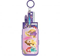 Набор канцелярский Disney Принцессы Диснея карандаш ч/г+пенал+линейка прозр. 15 см +ручка+точилка+блокнот+ластик