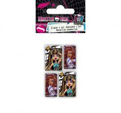 Набор канцелярский Monster High точилка 2 шт.+ластик фигурный 2 шт.