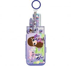 Набор канцелярский Littlest Pet Shop карандаш ч/г+пенал+линейка 15 см +ручка+точилка+блокнот+ластик