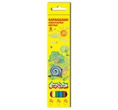Карандаши цветные Каляка-Маляка акварельные шестигранные 6 шт.