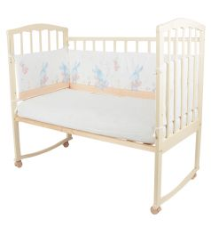 Бортик в кроватку Baby Nice Зайка, цвет: бежевый