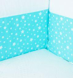 Бортик в кроватку Baby Nice Луна со звездочками, цвет: голубой