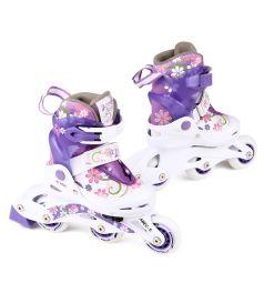 Коньки Action Sport Роликовые, цвет: фиолетовый