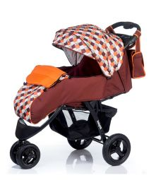 Прогулочная коляска BabyHit Voyage air, цвет: brown-orange