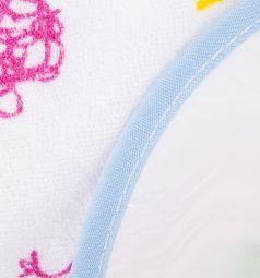 Слюнявчик Ням-Ням, цвет: белый/голубой