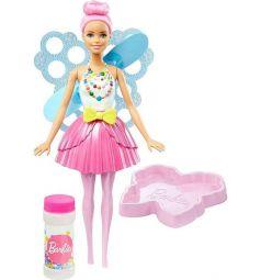 Кукла Barbie Дримтопия Фея с волшебными пузырьками со светло-розовыми волосами 29 см