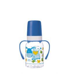 Бутылочка Canpol С ручками тритан с 3 мес, 120 мл, цвет: синий