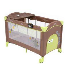 Манеж-кровать Capella Sweet Time Dino, цвет: зеленый/коричневый