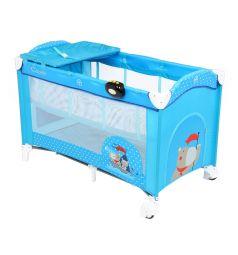 Манеж-кровать Capella Sweet Time Hippo, цвет: голубой