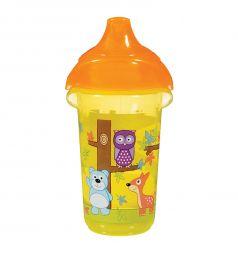 Поильник-чашка Munchkin Click Lock Deco Sippy с носиком, цвет: желтый
