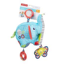 Мягкая игрушка-погремушка Fisher-Price Слоненок, 16 см