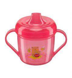 Поильник Happy Baby Training cup С ручками, цвет: красный